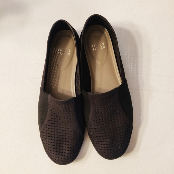 Eileen Fisher Suede & Fabric Slip On Loafer
